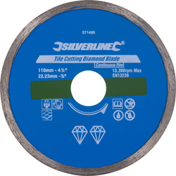 Silverline Diamantschijf tegels 110x22,23mm - 10162 - van Toolstation