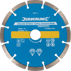 Silverline Diamantschijf universeel 150x22,2mm - 10168 - van Toolstation