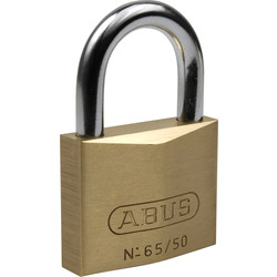 Abus messing hangslot 65/30mm