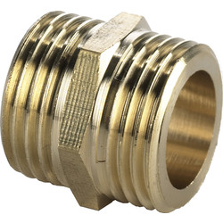 "BPE Gas Thread Fitting Double Nipple 1/2 "" x 1/2"" Male"