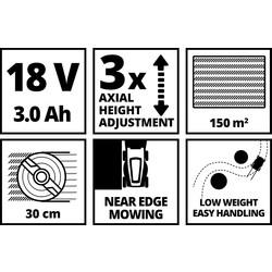 Einhell GE-CM 18/30 Li accu grasmaaier