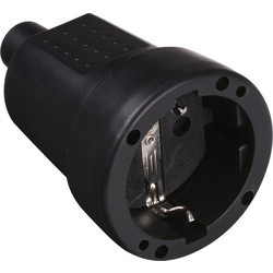 Socket Earth PVC Black