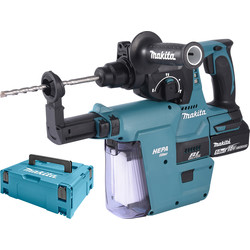Makita Makita DHR242RTJV accu combihamer machine met afzuiging SDS-plus - 11992 - van Toolstation
