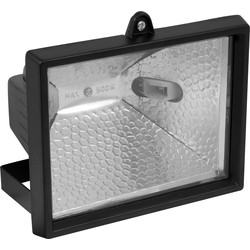 Halogen floodlight 500W black