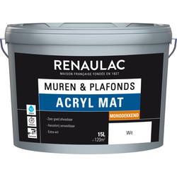 Renaulac acrylic latex matt, high opacity 15L white