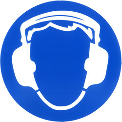 Hearing Protection Sticker Ø15cm