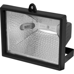 Halogen floodlight 150W black
