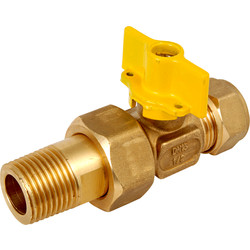 BPE Gas Ball Valve Compression x Male Coupling 15 x 1/2 ""
