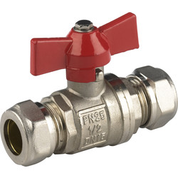 Universal Ball Valve 22x22mm compression