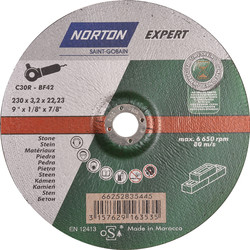 Norton Norton Expert doorslijpschijf steen 230x3,2x22,23mm - 17385 - van Toolstation