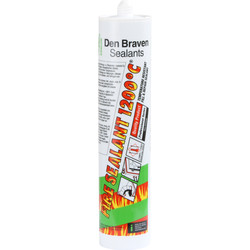 Zwaluw Zwaluw Fire Sealant 1200°C kachelkit zwart 310ml - 20594 - van Toolstation