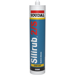 Soudal Silirub 2 S White 300 ml