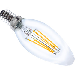 Integral LED lamp filament kaars E14 4W 430lm 2700K