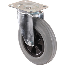 Industrial rubber wheels 200 mm casters