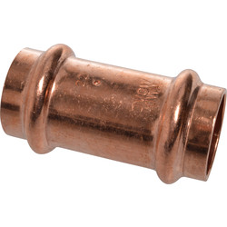 Copper Press straight fitting  22 mm F for V-conture