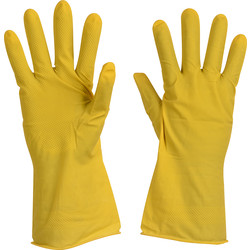 Rubber Household Gloves Yellow XL, 9-9.5