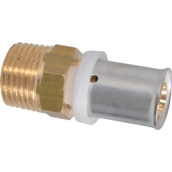 "Crimp thread fitting 16 x 2 mm x 1/2"" Male"