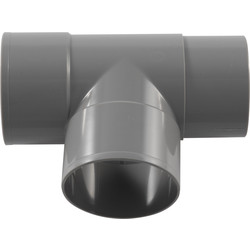 PVC HWA Pipe Branch 90º 80mm, 2 x Socket