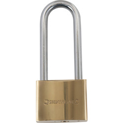 Brass padlock with high bar 50 mm