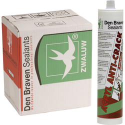 Zwaluw Zwaluw acryl anti-crack Wit 310ml - 38219 - van Toolstation