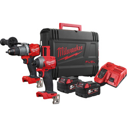 Milwaukee Milwaukee M18 FPP2A2-502X combopack 18V Li-ion - 38711 - van Toolstation