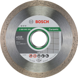 Bosch Bosch Standard for Ceramic diamantschijf tegels 115x22,2x1,6mm - 39259 - van Toolstation