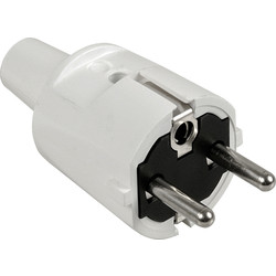 Stekker RA PVC Wit - 39889 - van Toolstation