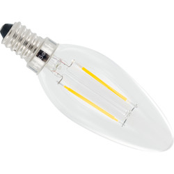 Integral LED lamp filament kaars E14