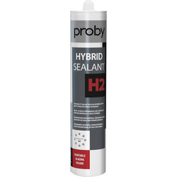 Proby Beglazingskit H2 wit 290ml - 41656 - van Toolstation