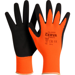 Latex foam handschoenen 10/XL oranje