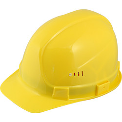Portwest PE safety helmet Yellow - 43355 - from Toolstation