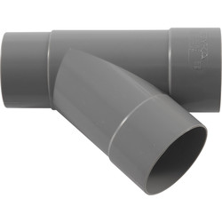 PVC HWA Pipe Branch 45º 70mm, 2 x Socket