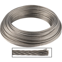 Stainless steel cable AISI 318 5 mm x 25 m