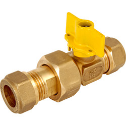 BPE Gas Ball Valve Compression x Kopp, 15 x 15 Compression