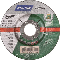 Norton Norton Expert cutting disc stone 115x3,2x22,23mm - 51406 - from Toolstation