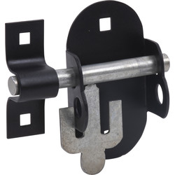 Black oval latch for padlocks 100x50mm