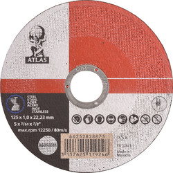 Atlas Cutting disc steel/stainless steel 125x1x22,23mm - 54649 - from Toolstation