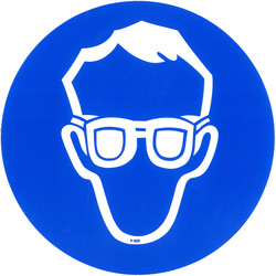 Eye Protection Sticker Ø15cm