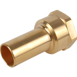 "John Guest Perslucht messing spie 1/2""x15mm - 57031 - van Toolstation"