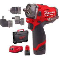 Milwaukee Milwaukee M12 FPDXKIT-202X accu schroefklopboormachine 12V  Li-ion - 57970 - van Toolstation