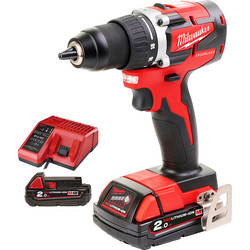 Milwaukee Milwaukee M18 CBLDD-202C accu schroefboormachine 18V Li-ion - 58495 - van Toolstation