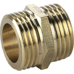 "BPE Gas Thread Fitting Double Nipple 1/4 "" x 1/4"" Male"