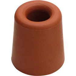 Rubber deurbuffer rood Ø31x33mm - 59382 - van Toolstation