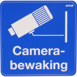 Sticker camerabewaking 10x10cm - 62985 - van Toolstation