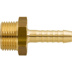 "Slangpilaar messing 3/8"" bui. - 6mm"