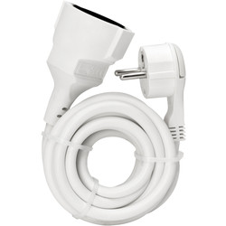 Kopp extension lead flat plug 2m 3 x 1.5mm2 white