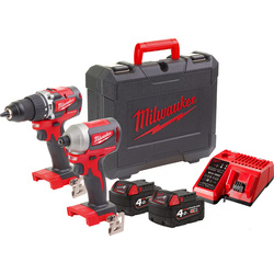Milwaukee Milwaukee M18 CBLPP2A-402C combopack 18V  Li-ion - 63751 - van Toolstation