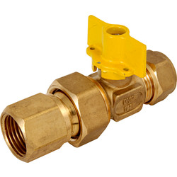 BPE Gas Ball Valve Compression x Female Coupling 15 x 1/2 ""