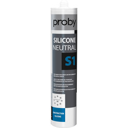 Proby Siliconenkit neutraal S1 transparant 280ml - 64337 - van Toolstation