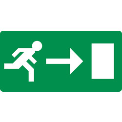 Referral Emergency Exit Right Sticker 10x20cm
